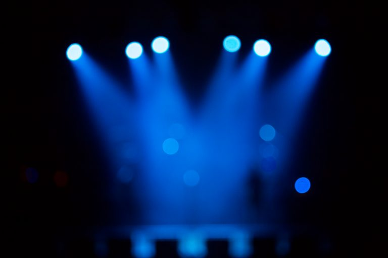 Defocused entertainment concert lighting on stage